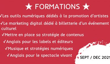★ Formations : automne 2021 ★